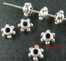 250pcs Silver plated daisy spacer bead 7mm FC283