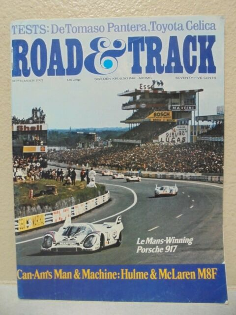 ROAD & TRACK MAGAZINE VOL. 23 #1 SEPTEMBER 1971  CAN-AM'S MAN AND MACHINE