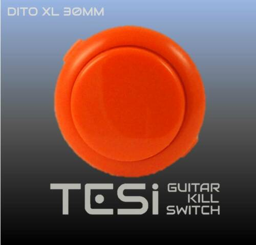 Orange Tesi DITO XL Snap In 30MM Arcade Button Guitar Kill Switch