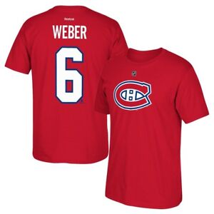 ad92cf68f Shea Weber Reebok Montreal Canadiens Premier N N Red Jersey T-Shirt ...