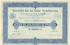 Societe de la Soie Synthesia SA, accion, 1926 (Siege: Veyner (Haute-Alpes))