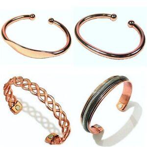 Image Is Loading Las Mens Copper Bracelet Bangle Arthritis Health Healing
