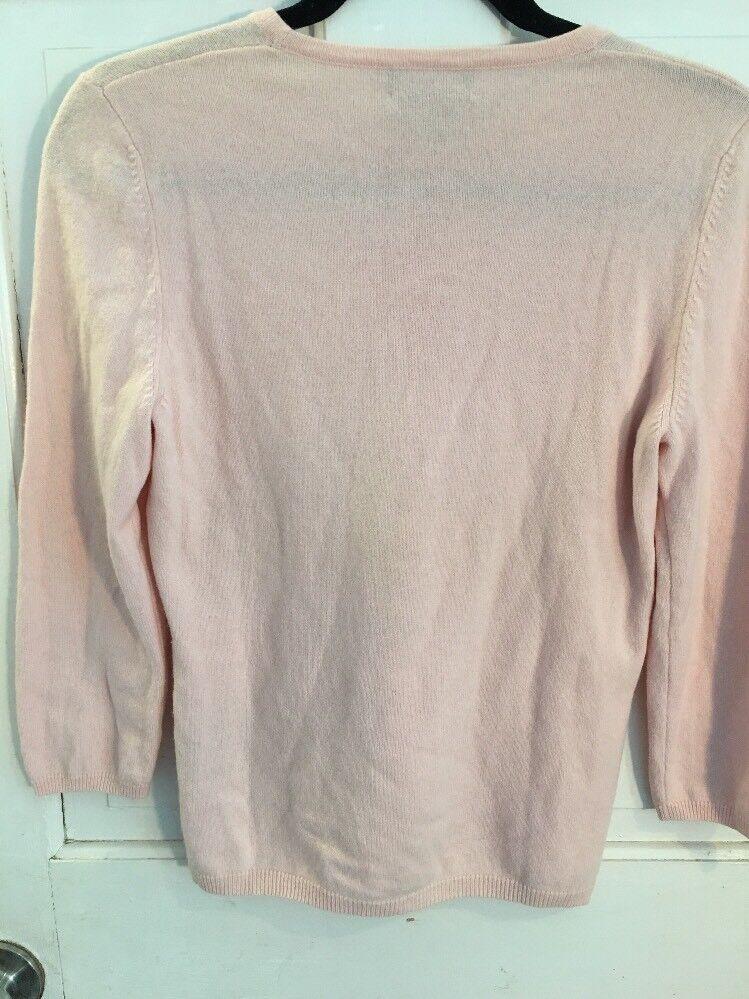 NWOT Sutton Studio Cashmere Seahorse Intarsia Petal Pink Sweater M M M 424aff