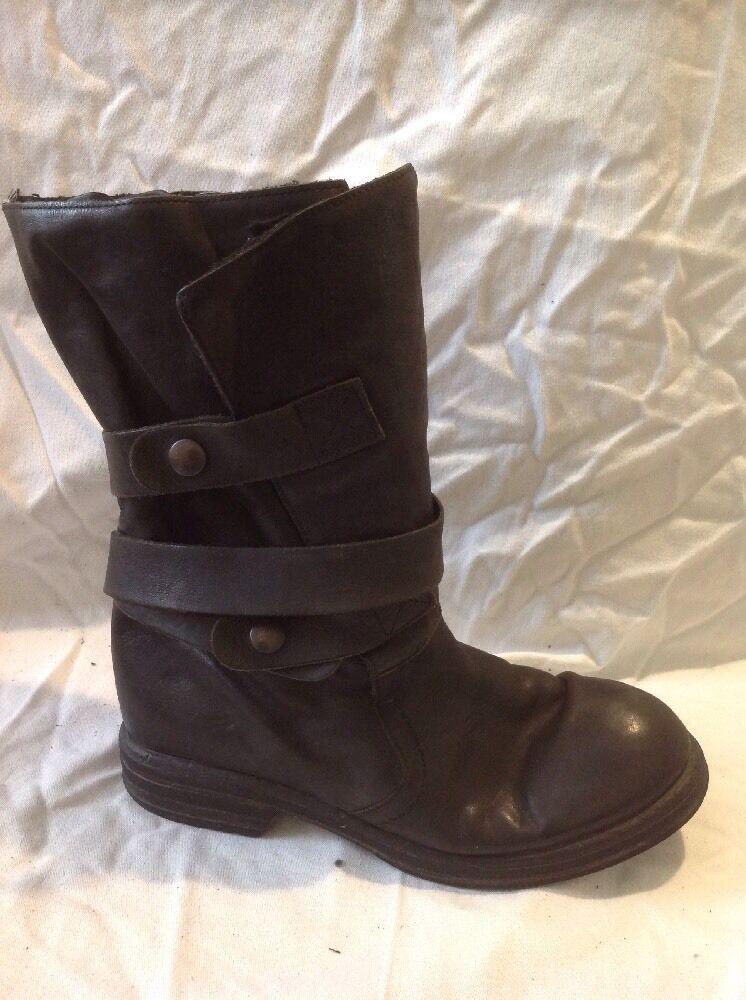 Carvela Black Mid Calf Leather Boots Size 38