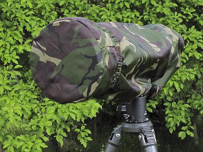 Rain Cover + Lens End Cap fits Canon Tokina Tamron Nikon Sigma 300mm f2.8 Camo