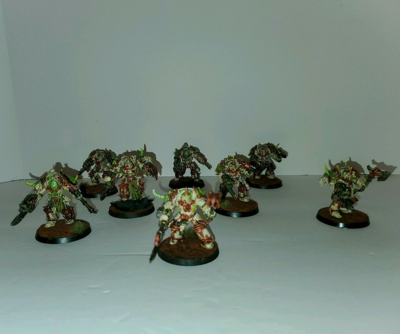 Warhammer 40k Death Guard Forgvärld Terminators Squad Miniatyrs x8