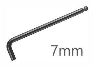 WERA-Winkelschraubendreher-SW-7mm-KUGELKOPF-Innensechskant-Sechskant-Schluessel