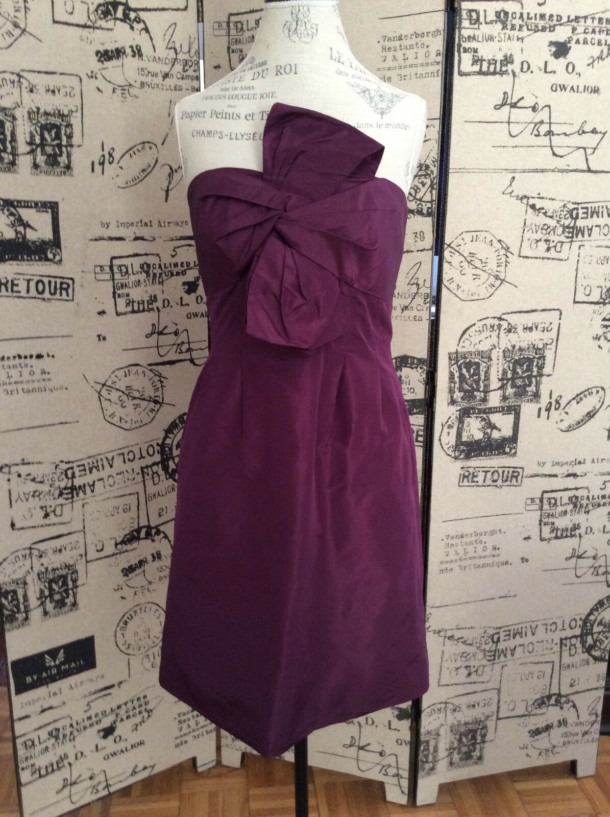 J. Crew Purple Strapless Dress Size 10