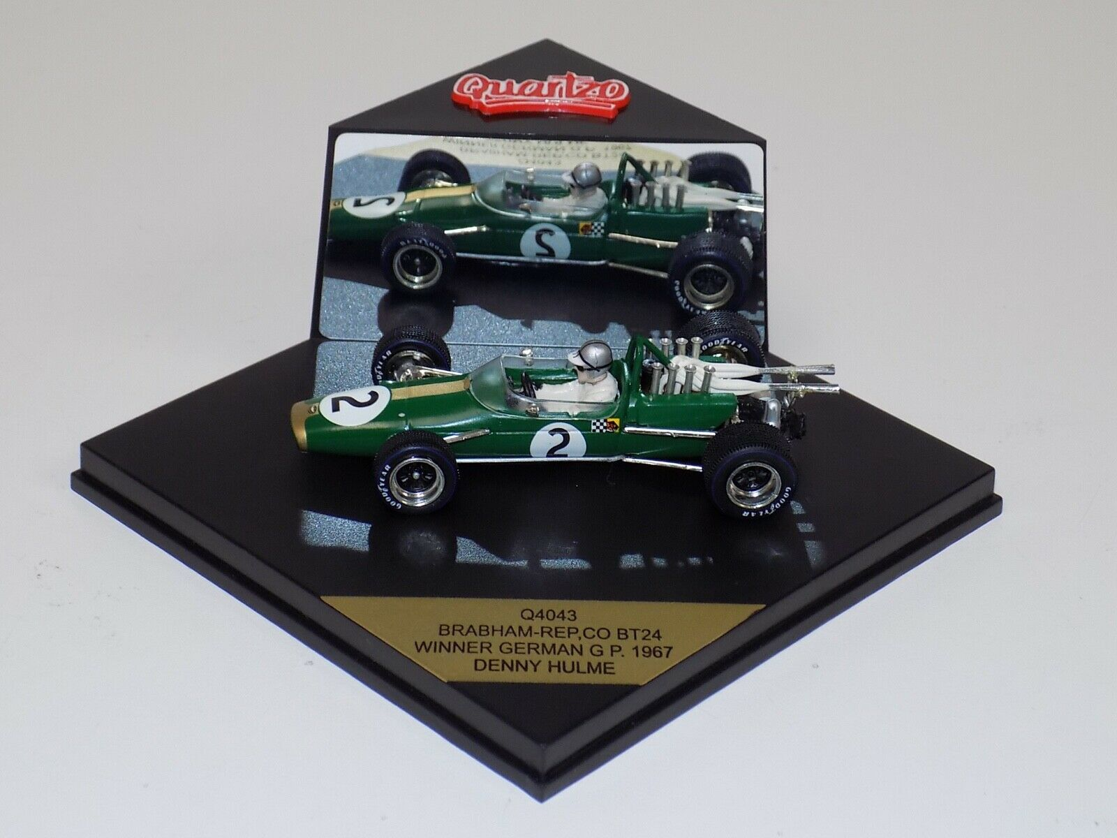 1 43 Quartzo F1 Brabham Rep,co BT24 Car Winner 1967 German GP D.Hulme Q4043