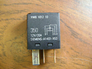siemens relay a1401x53 land rover ywb101210 v23074 12v 20a. Black Bedroom Furniture Sets. Home Design Ideas