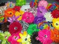 Wholesale Lot 12 Mixed Gerber Daisy Flower Tropical Heads Crafts Wedding Hair