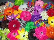 WHOLESALE LOT 12 mixed GERBER DAISY flower TROPICAL heads CRAFTS wedding HAIR