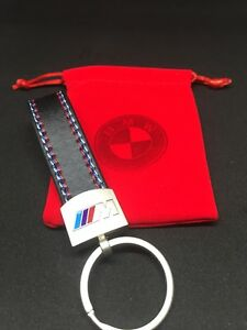BMW Keyring M Sport Leather Tech Fob Metal Ring *Top Quality* Brand new