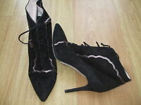 Boden Heeled Suede Lace Up Ankle Boots Size ==size 40==6.5 Bnwob