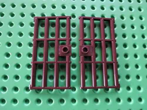 Lego 2 x Gitter Tür Gefängnis 60621  1x4x6  dunkelbraun 75020 75005