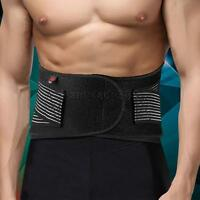 Double Pull Therapy Waist Belt Band Fitness Workout Lumbar Back Brace Support