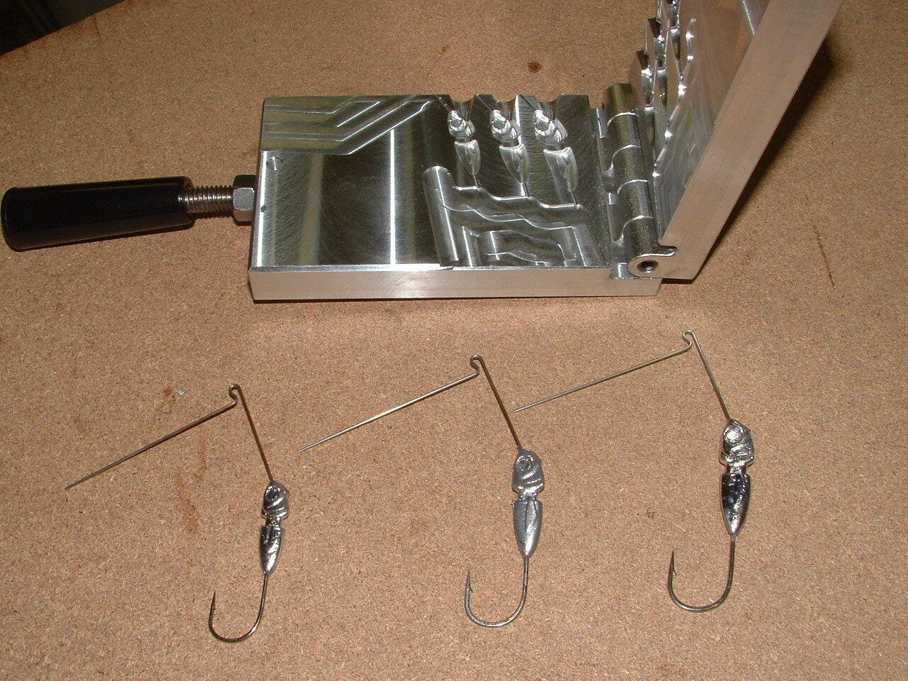 Freshwater Spinnerbait Hidden Weight -4  mold 1 4, 3 8, 1 2 oz CNC Aluminum
