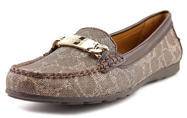 2de37f73124 Coach Olive Signature Loafer Driver MOC Loafer Flat Shoe  Black-bark chestnut 9 for sale online