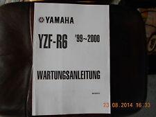 Werkstatthandbuch Reparaturanleitung Yamaha YZF - R6 (1999/2000)