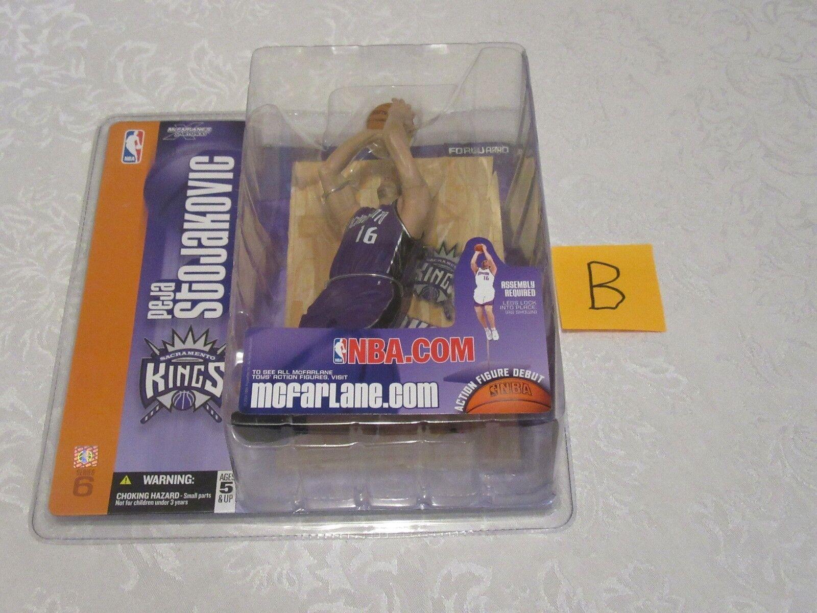McFarlane NBA Series 6 Peja Stojakovic Chase Variant viola Jersey Kings B