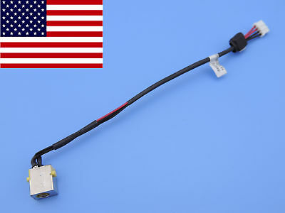 Original DC power jack plug in cable for Gateway NV570P27u NV570P26u NV570P29u
