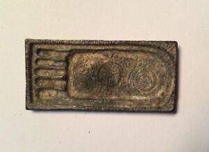 Estatuilla-PLACA-VOTIVA-BUDA-PIE-Buda-amuleto-metal-gris-Tailandia-T39