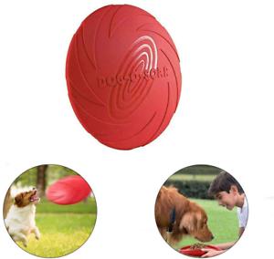 Frisbee Jouet Flottant pour Chien en Caoutchouc Naturel (Rouge)