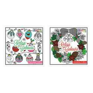 Colouring Therapy Christmas Premium Adult Coloring Book/60 Designs ...