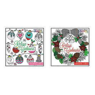 Colouring Therapy Christmas Premium Adult Coloring Book/60 Designs to  Colour8796 5013922087962 | eBay
