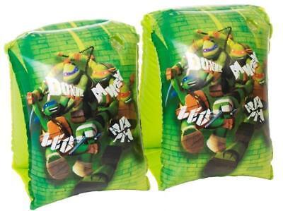 Bene Braccioli Gonfiabili Ninja Turtles – Tartarughe Ninja 2 Pz Colore Verde Nuovo Buoni Compagni Per Bambini E Adulti