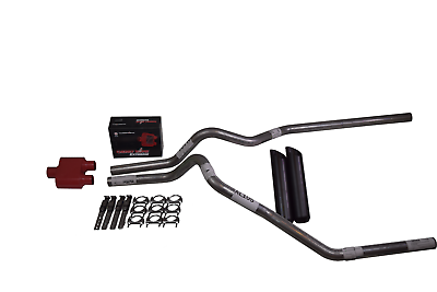 "96-99 Chevy GMC CK1500 CK2500 2.5/"" Dual Exhaust No Muffler Side Exit Slash Tips"