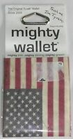Mighty Wallet American Flag Original Tyvek Wallet - Thin, Strong, Green >new