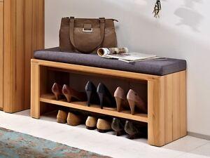 nestor plus sitzbank bank mit kissen f r garderobe kernbuche garderobenbank ebay. Black Bedroom Furniture Sets. Home Design Ideas