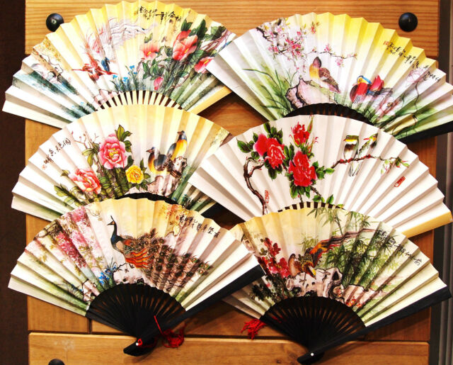 1*Paper Folding Hand Fan With Chinese Colour Painting,23cm