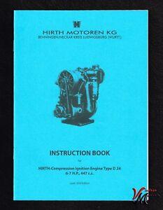 Hirth Moteur Diesel Type D 24 - (montées Sur Howard 700 Rotavator) - A4-afficher Le Titre D'origine T34l6vsk-07223640-949245652