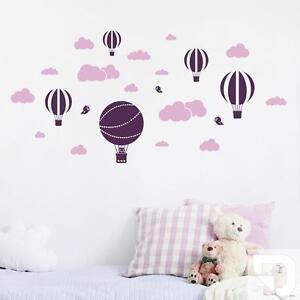 Wandtattoo Set Wolken und Heißluftballons fürs Babyzimmer von ...