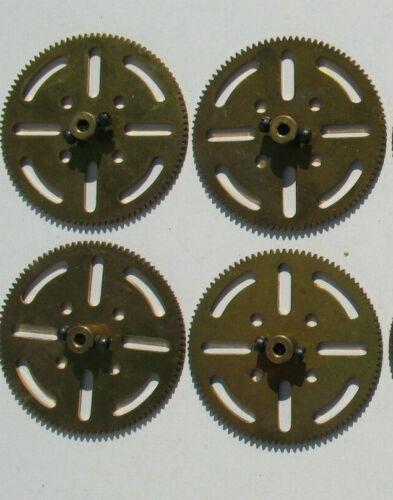 Messing Zahnrad mit Schrauben 64mm für Baukasten 4x MÄRKLIN 10595 95 Zähne