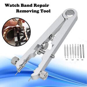Watch-Band-Bracelet-Spring-Bar-Standard-Remover-Repair-Tool-Ear-Plier-w-8-Pins
