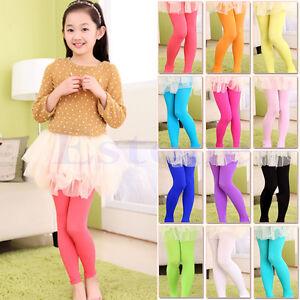 Girls-Kids-Children-Velvet-Leggings-Solid-Candy-Color-Underpants-Tight-Trousers