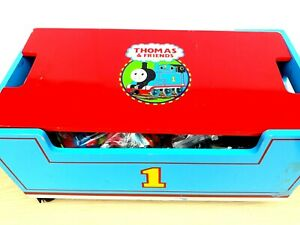 Pleasant Details About Vintage Thomas The Train Wood Toy Chest Box Storage Bench On Wheels Caraccident5 Cool Chair Designs And Ideas Caraccident5Info