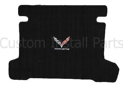 Crossed Flags Emblem Logo 2005-13 C6 Corvette Coupe Ebony Black Rear Trunk Mat