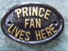 PRINCE FAN PLAQUE SIGN PURPLE RAIN PAISLEY PARK PARADE 1999 DOVES CRY