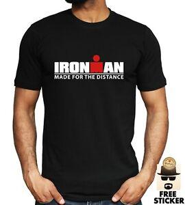 IRONMAN-T-shirt-Triathlon-Gym-Training-Bodybuilding-Sport-Workout-Iron-Mens-Tee