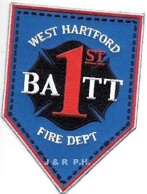 """2.75/"""" x 4.5/"""" size fire patch Hartford  TAC UNIT-1 Connecticut"""