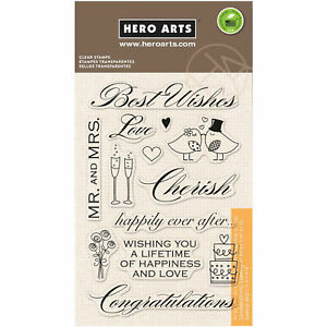 Best-Wishes-Wedding-Sentiments-Clear-Acrylic-Stamp-Set-by-Hero-Arts-CL360-NEW