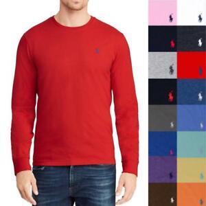 Men-039-s-Polo-Ralph-Lauren-Regular-Fit-Long-Sleeve-Crewneck-T-Shirt-Tee