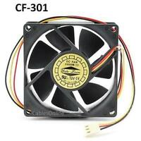 3-pin 80mm Cpu Case / Power Supply Ball Bearing Cooling Fan, Cablesonline Cf-301