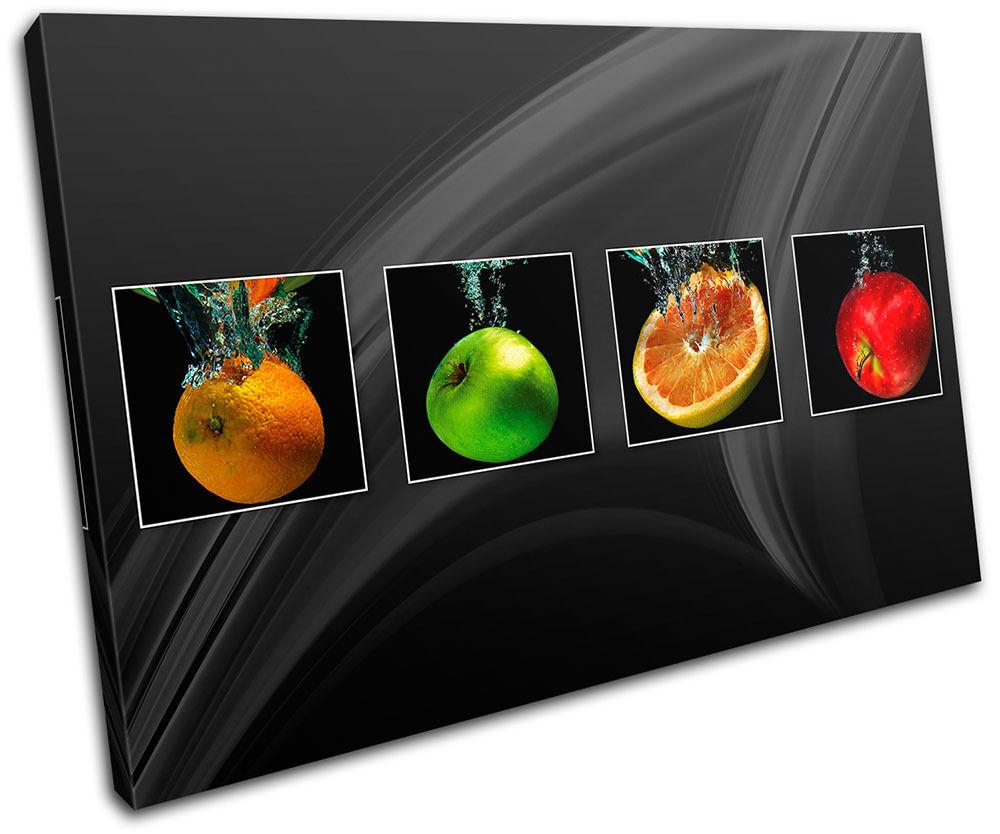 Fruit Apple Splash Food Kitchen pared SINGLE LONA pared Kitchen arte Foto impresion d23ef7