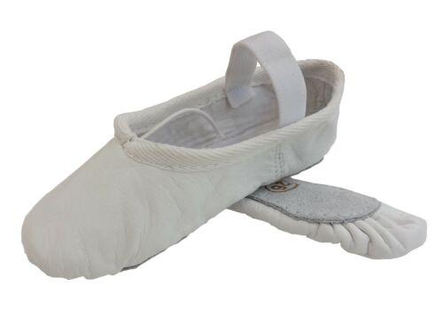 Ballet Chaussures Plein Semelle en Cuir Rose Noir Blanc