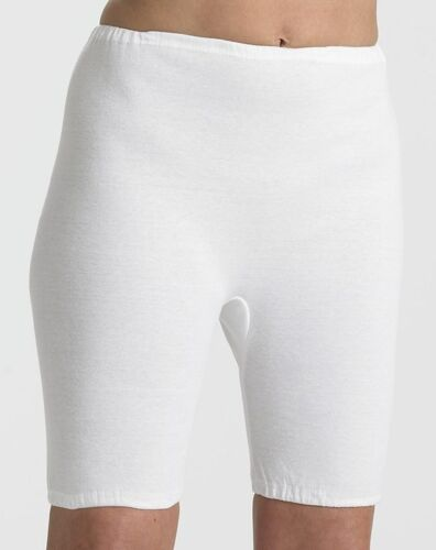 Directoire Knickers Bloomers Panties Cotton Interlock White Vintage Size 20-22